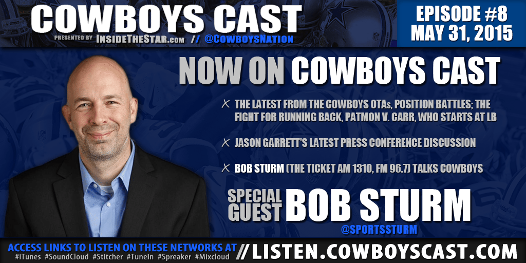 "News & Notes - Bob Sturm Talks Cowboys RB, Brandon Carr & ""The Gregs"" on Cowboys Cast 8"