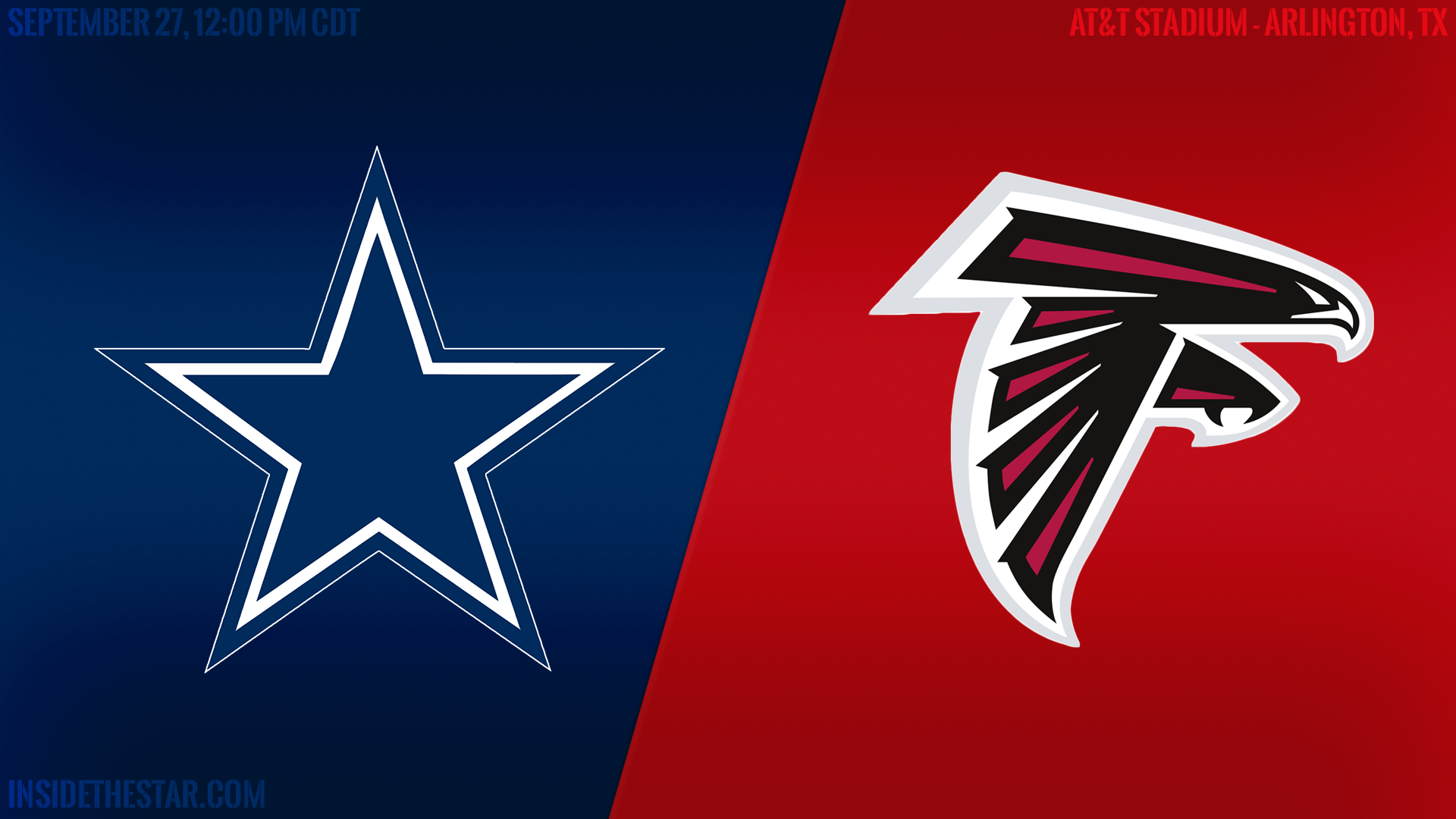 Dallas Cowboys Roster >> #SmoothView Pregame Report: Dallas Cowboys vs Atlanta Falcons