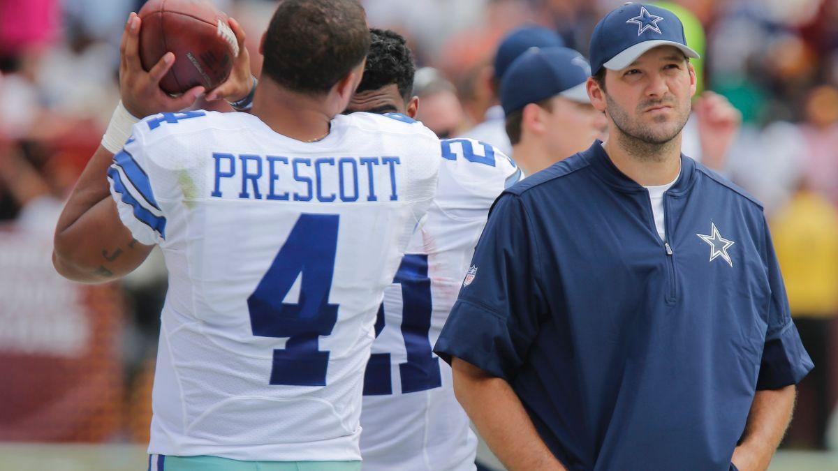 Dak Prescott, Tony Romo