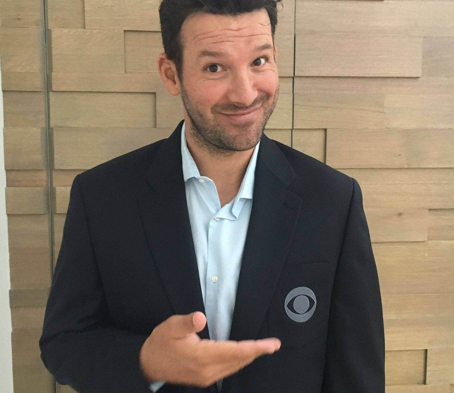 Tony Romo Trades In His Jersey For a CBS Sports Blazer
