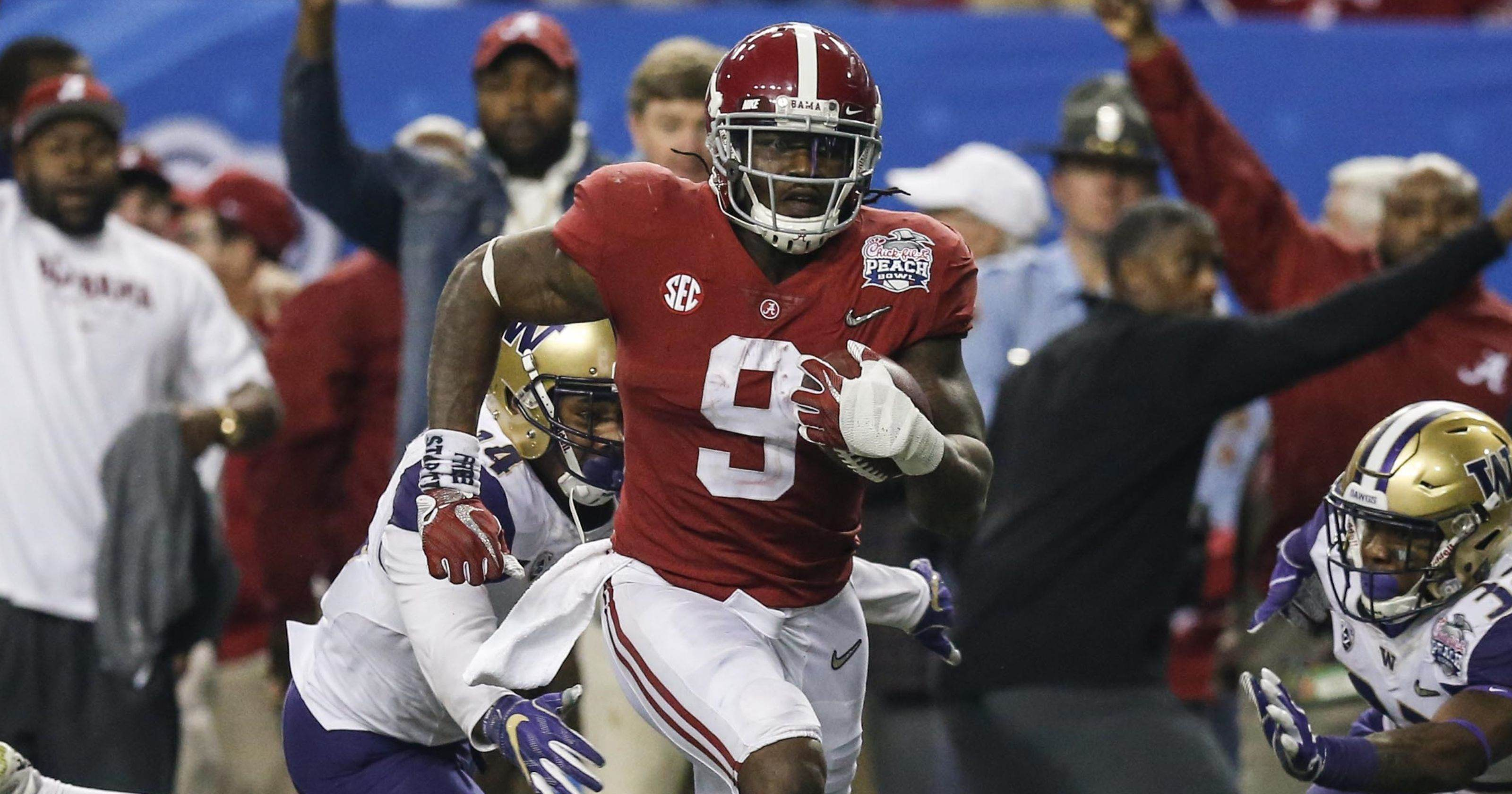 Cowboys Draft RB Bo Scarbrough with the 236th Pick in the 2018 NFL Draft