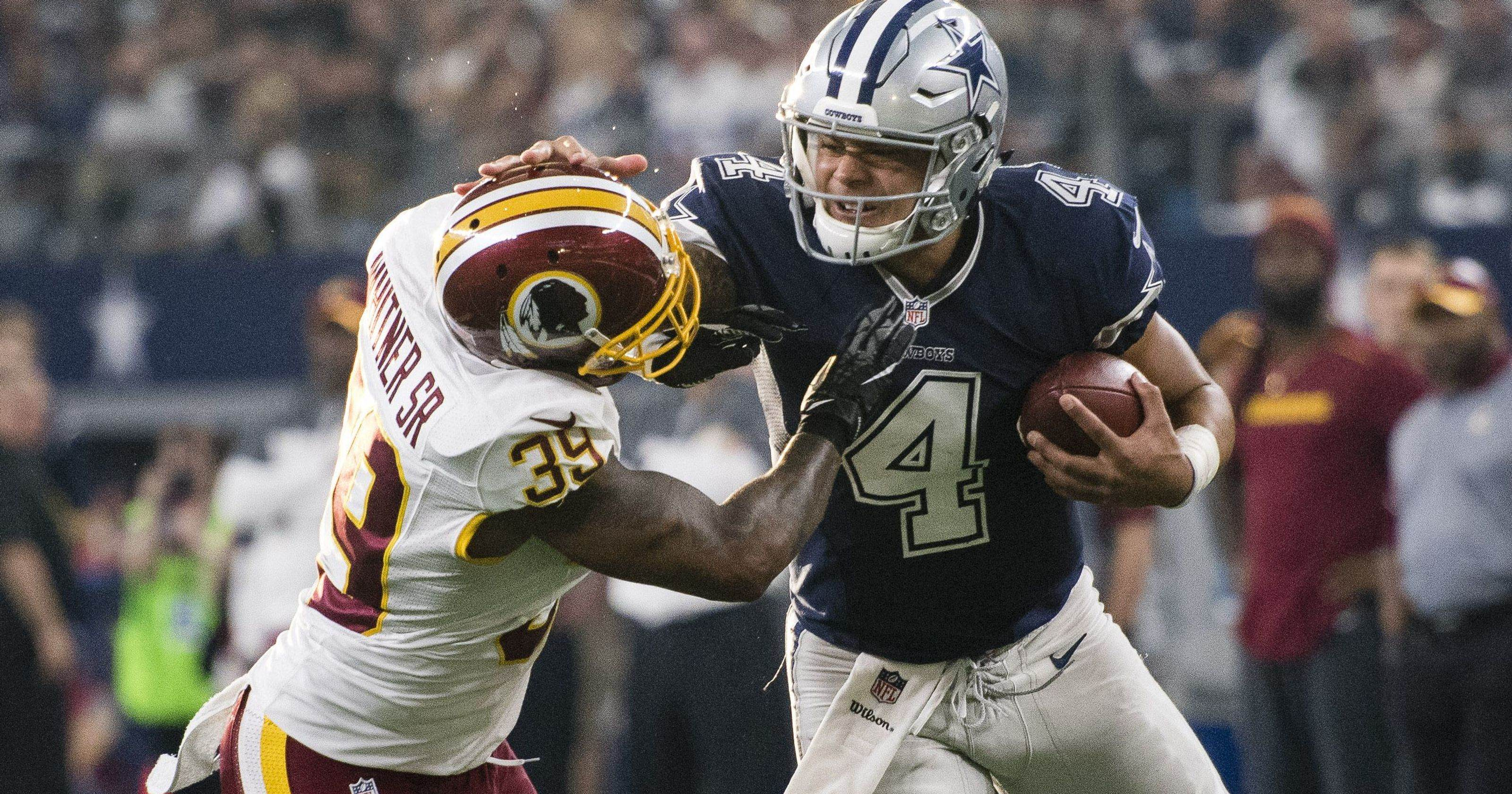 Cowboys' Offense Shaky In Loss To NFC East Rival Redskins 20-17