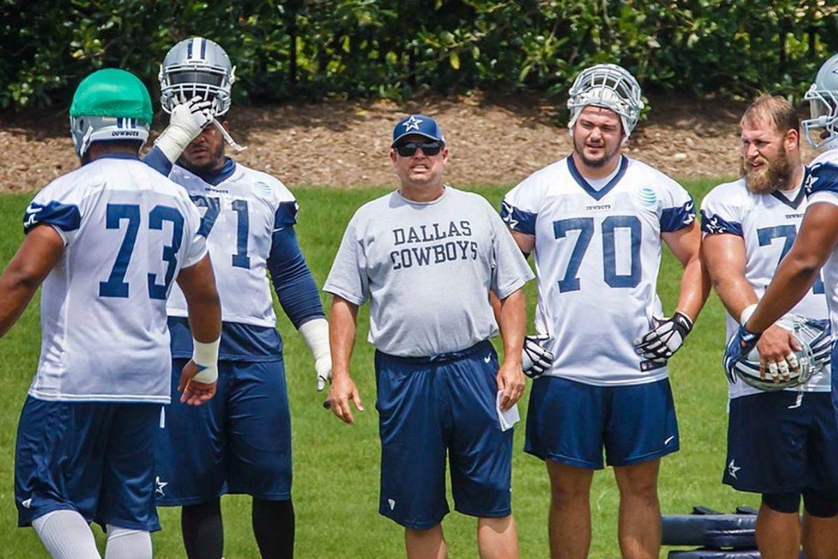 Cowboys Fire OL Coach Paul Alexander, Promote Marc Colombo