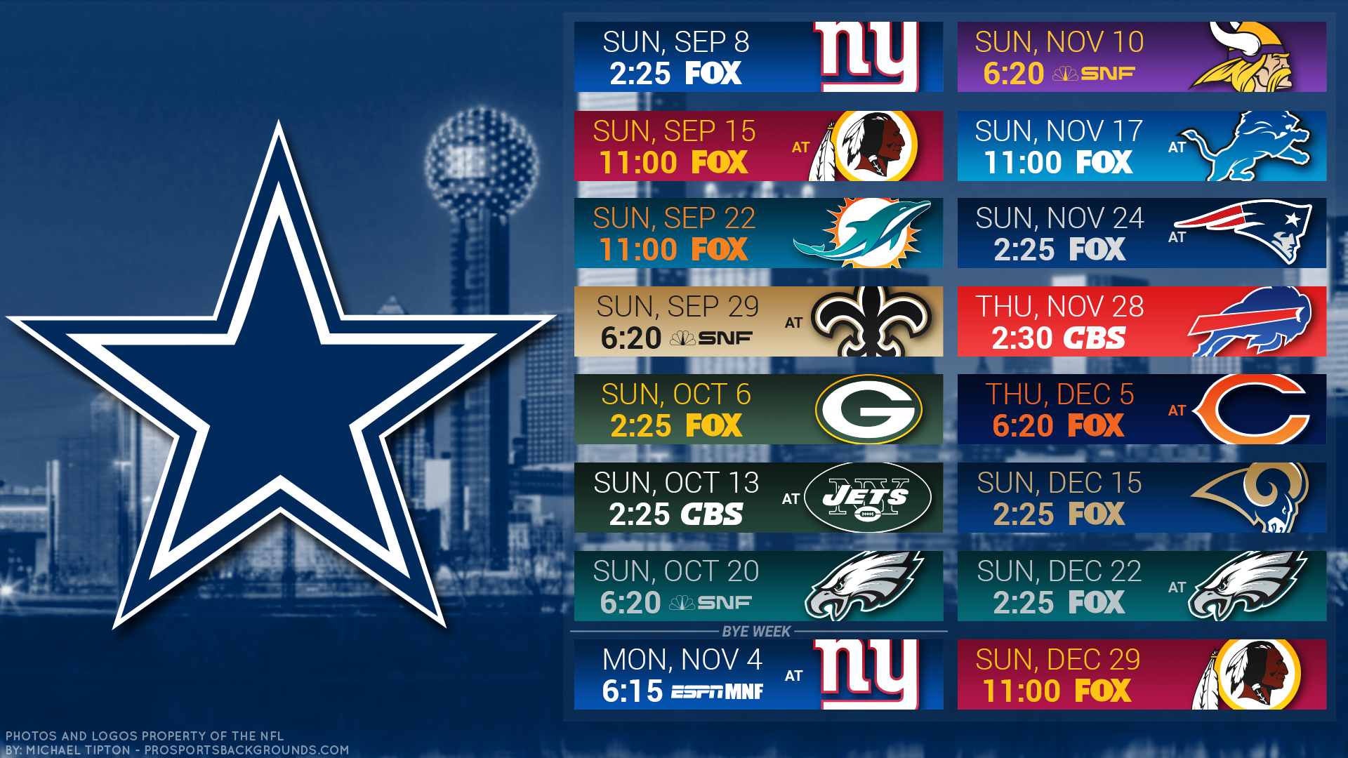 Cowboys Schedule 2019 Dallas Cowboys 2019 Schedule: Way too Early Win/Loss Game