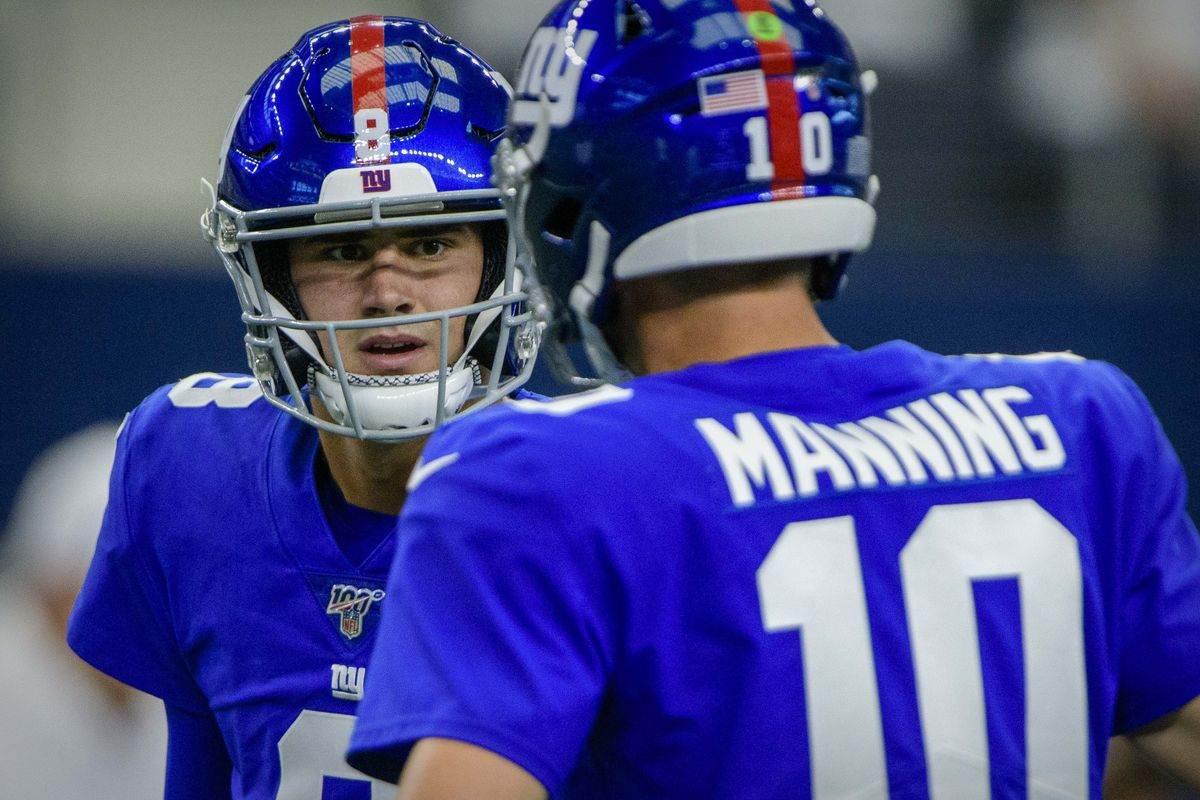 Daniel Jones, Eli Manning, Giants